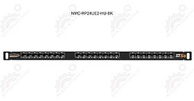 """Панель 19"""", 0,5U, 24 порта, Кат.6, RJ45/8P8C, неэкран."""