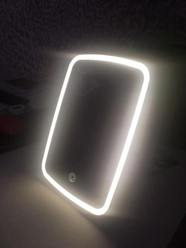 Зеркало для макияжа со светодиодной подсветкой Xiaomi Jordan Judy Tri-color - фото 2