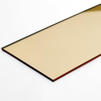 Золотой зеркальный листовой акрил (3мм) 1,22мХ2,44м