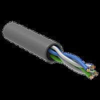 ITK BC1-C5E02-111-305-G кабель витая пара U/UTP кат.5E 100 МГц, 2 пары PVC INDOOR, серый (305 м)