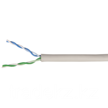 ITK LC1-C5E04-111 кабель витая пара U/UTP кат.5E 4х2х24AWG solid PVC серый (500 м)