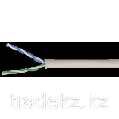 ITK LC1-C5E04-111 кабель витая пара U/UTP кат.5E 4х2х24AWG solid PVC серый (500 м), фото 2