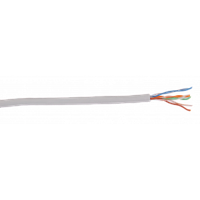 ITK LC1-C5E04-111-100 кабель витая пара U/UTP кат.5E 4х2х24AWG solid PVC серый (100 м)