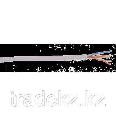 ITK LC1-C5E04-121 кабель витая пара U/UTP кат.5E 4x2х24AWG solid LSZH нг(А)-HF серый (305 м), фото 2