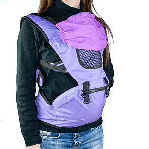 Рюкзак-кенгуру для переноски детей, цвет фиолетовый, фото 2