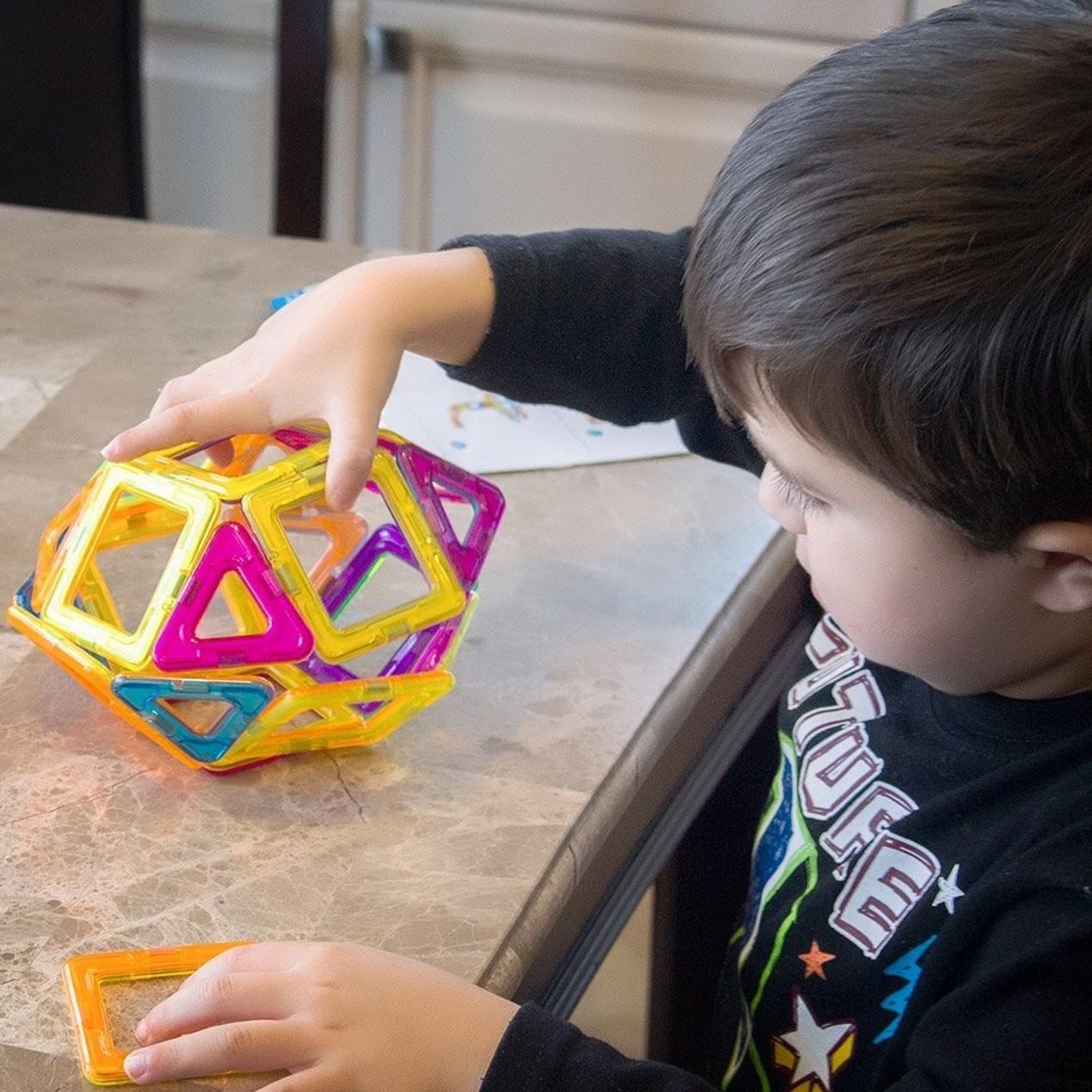 Детский магнитный конструктор 44 предмета