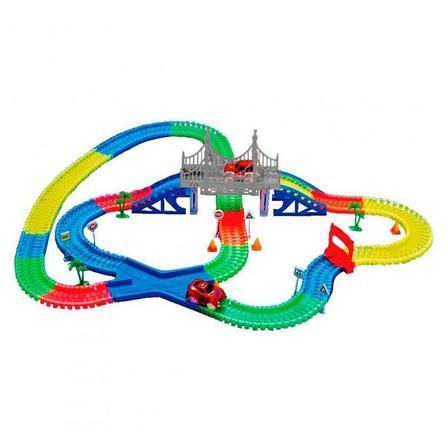 Детская игрушечная дорога Magic Tracks 360 деталей + 2 машинки Mega Set, фото 2