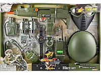 Немного помятая!!! 33560 Военный набор с каской и маской 12 предметов Special Force 58*40см