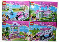 66041 FASHION GIRL констр. для девочек 4 вида,8шт в упаковке, цена за 1 шт,26*19см