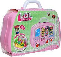 Трещина на чемодане!!! 678-101B LOL ЛОЛ кухня в чемодане на колесах 28*25см