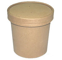 Бумажный контейнер крафт для супа EcoSoup 340мл