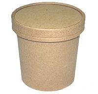 Бумажный контейнер крафт для супа EcoSoup 470мл