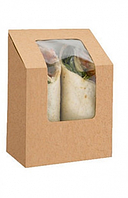 Упаковка для роллов крафт 90х500х130мм