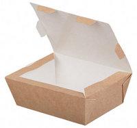Бумажный ланч бокс 600мл, 150х115х50мм