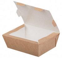 Бумажный ланч бокс 1000мл, 190х150х50мм
