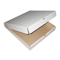 Гофро коробка для пиццы белая 330х330х40мм
