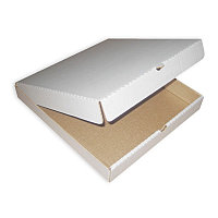Гофро коробка для пиццы белая 400х400х30мм
