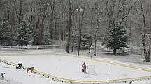 Ледовый каток 6*12 метров с фанерными бортами