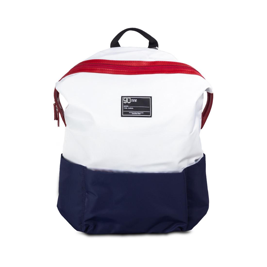 Рюкзак, Xiaomi 90 Points, Lecturer Leisure Backpack  Бело-Синий (6971732586039)