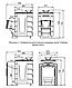 Печь для бани ТМФ Гейзер Мини 2016 Inox нерж.дверца закрытая каменка антрацит, фото 3