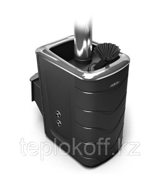 Печь для бани ТМФ Гейзер 2014 Carbon с т/обменником нерж.дверца закр.каменка антрацит