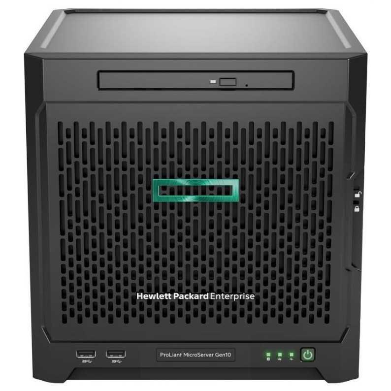 Сервер HPE873830-421 Micro Gen10, 1x AMD X3216 2C 1.6-3.0GHz, 1x8Gb-U, SATA ZM (RAID 0,1,10) noHDD (4 LFF 3.5