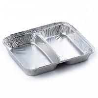 Алюминиевый контейнер 2х секционный 840мл,  227х177х160мм
