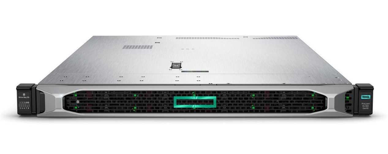 Сервер HPEDL360 Gen10, 1(up2)x 4110 Xeon-S 8C 2.1GHz, 1x16GB-R DDR4, P408i-a/2GB (RAID 1+0/5/5+0/6/6+0/1+0 AD
