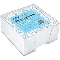 Блок для записи OfficeSpace, 9*9*4,5см, пластиковый бокс, белый 153173