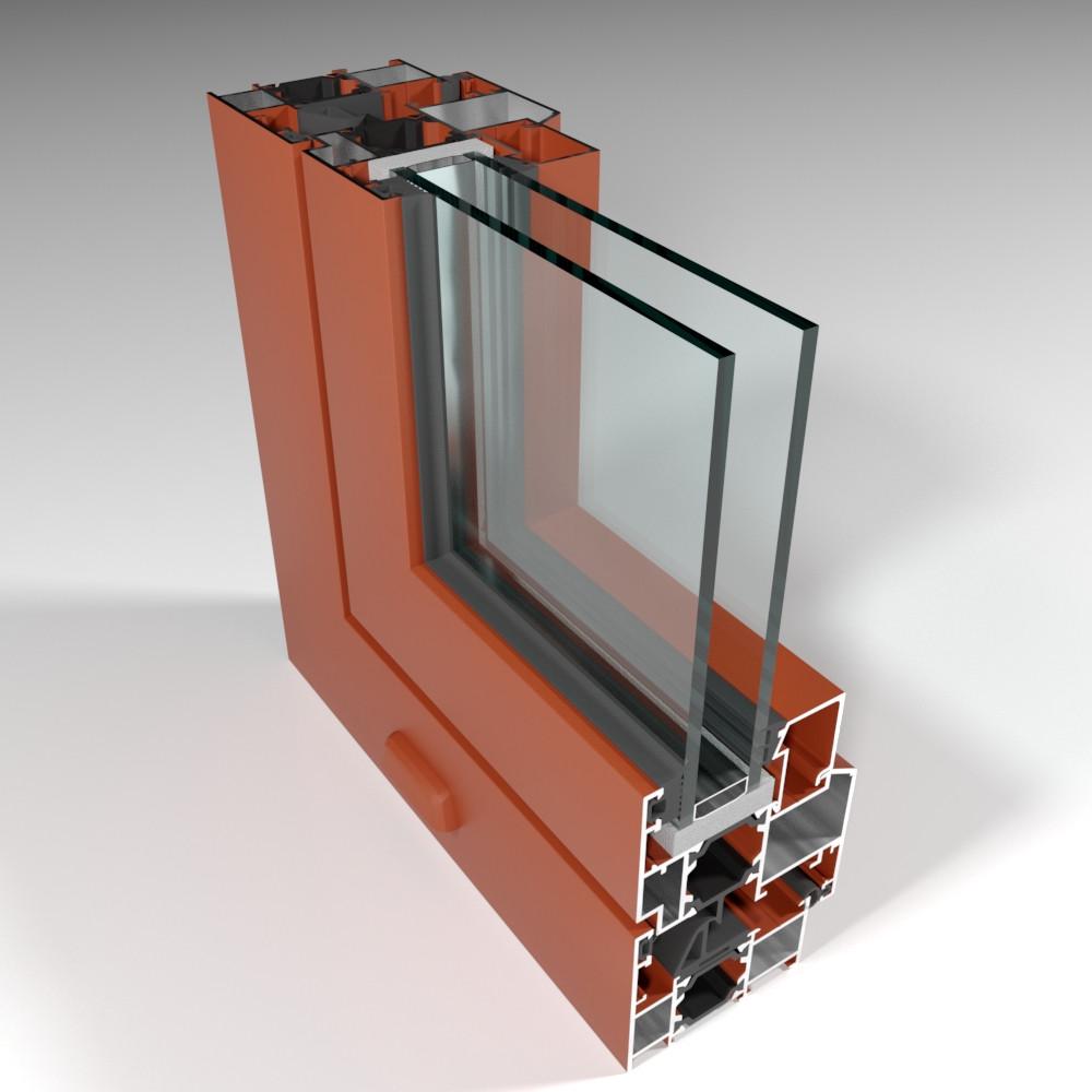 Фасадная алюминиевая система с терморазрывом СИАЛ КПТ60 - фото 1