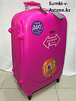 Large plastic 4 wheels travel  suitcase Ambassador. Height 79 cm, length 49 cm, width 29 cm., фото 1