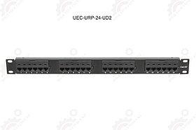 """Панель 19"""", 1U, 24 порта, Кат.5e, RJ45/8P8C, неэкран"""