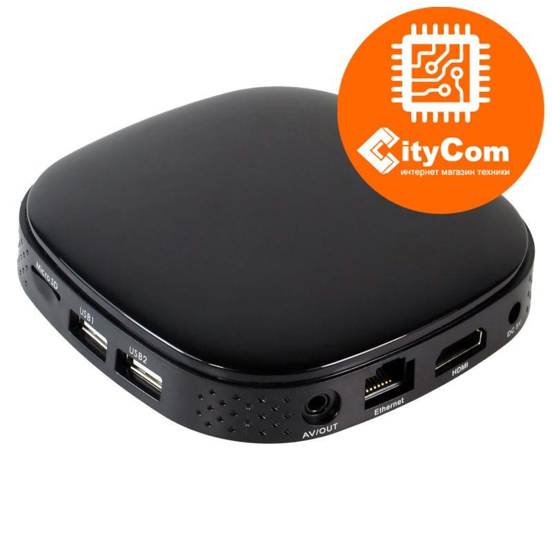 Приставка Android TV box к телевизору, ОС Андроид ТВ AT-758 мини компьютер, ТВ-приставка