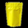 Пакеты дой пак металлизированные желтый матовый с замком зип-лок 135*200+40мм
