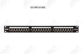 """Панель 19"""", 1U, 24 порта, Кат.5e, RJ45/8P8C, экран"""
