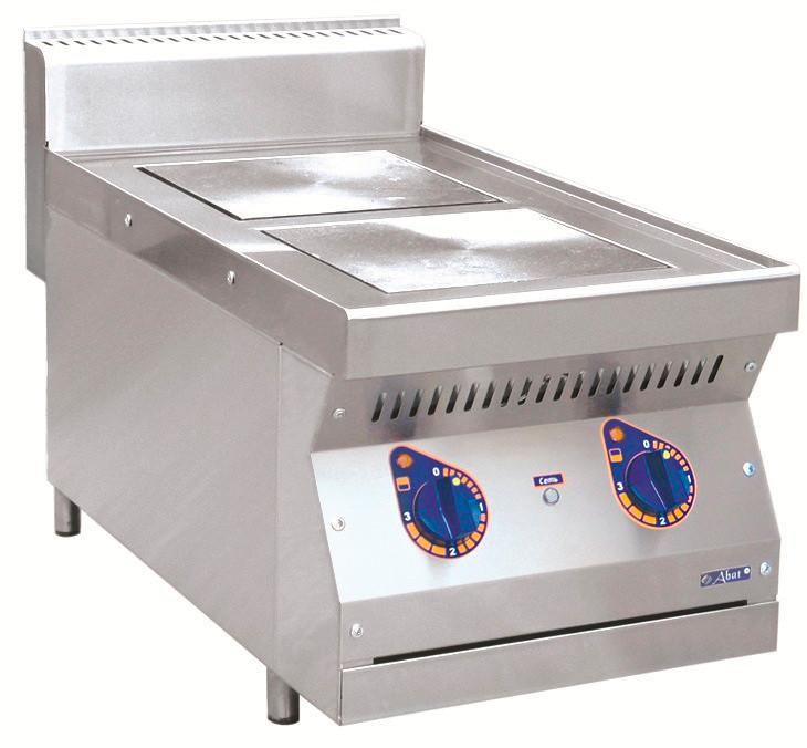 Плита электрическая ABAT ЭПК-27Н двухконфорочная без жарочного шкафа (полностью нерж, серия 700)