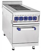Плита электрическая ABAT ЭП-2ЖШ двухконфорочная с жарочным шкафом (лицевая нерж, серия 900)