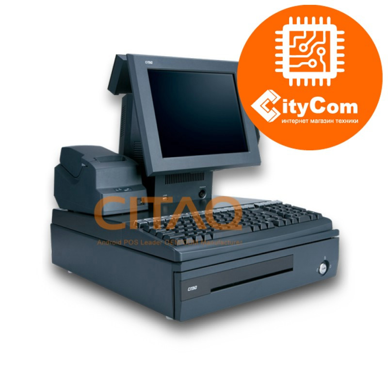 POS система CITAQ A8 Премиум класса, all-in-one, сенсорная, в комплекте с принтером чеков, кассовым ящиком.