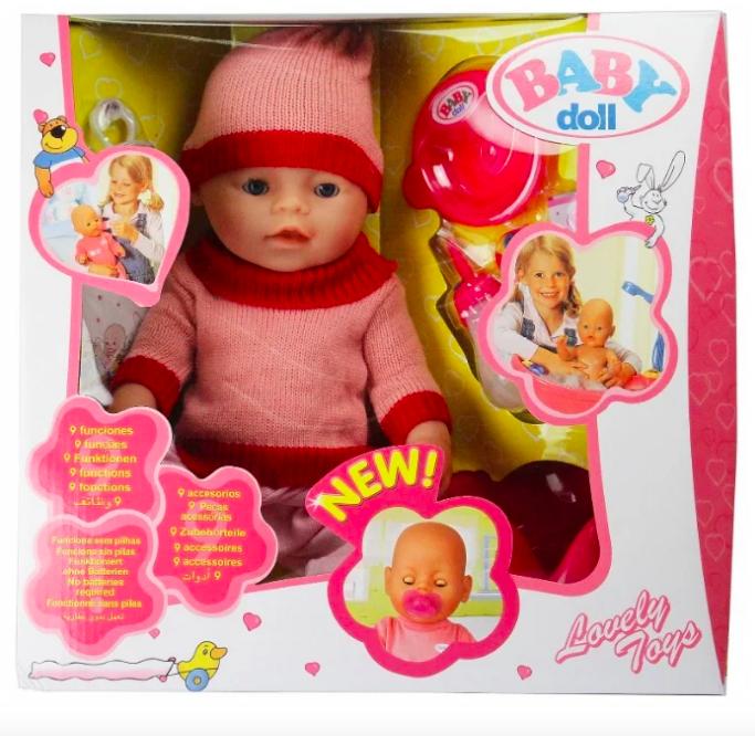 Интерактивный пупс Baby Doll 43 см - фото 4