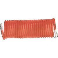 Шланг спиральный воздушный, 10 м, с быстросъемными соединениями