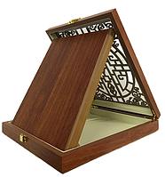 Наградная плакетка (20х25см)в подарочной коробке, дуб резной, фото 1