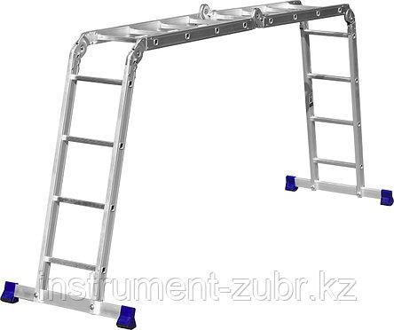 Лестница-трансформер СИБИН алюминиевая, 4x4 ступени, фото 2