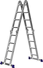 Лестница-трансформер СИБИН алюминиевая, 4x4 ступени, фото 3