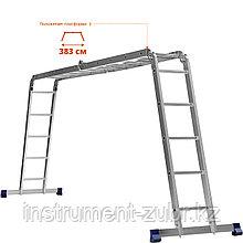 СИБИН ЛТ-45 лестница-трансформер, 4x5 ступеней, алюминиевая.