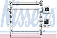 Радиатор, охлаждение двигателя NISSENS MB W163 ML