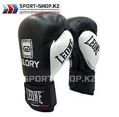 Боксерские перчатки Glory Leone black
