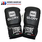 Боксерские перчатки Glory Leone black, фото 2