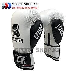Боксерские перчатки Glory Leone white