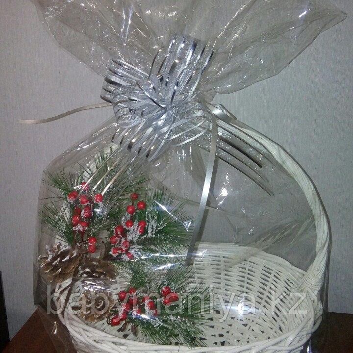 Прозрачный упаковочный пакет для оформления подарочной  корзины, размер 70*100 см