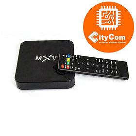Приставка Android TV box к телевизору, ОС Андроид ТВ Mini PC MX-V Арт.4077